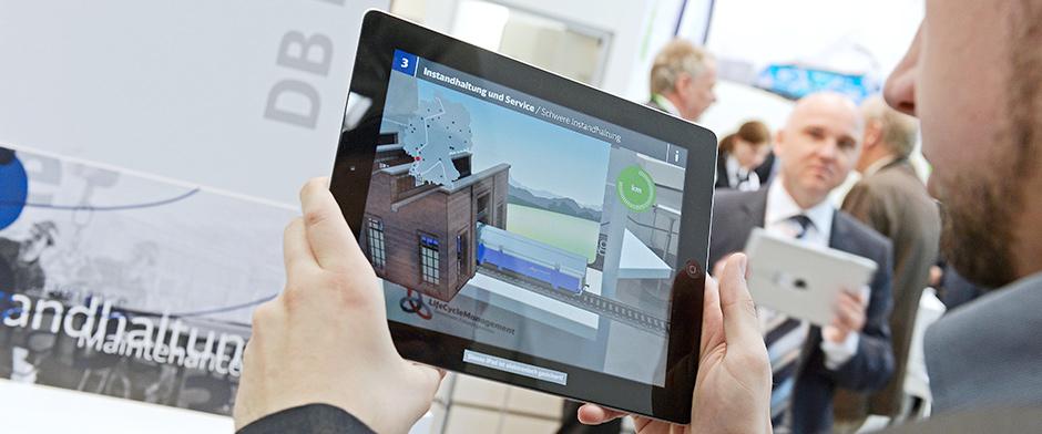 Augmented Reality App DB Fahrzeiginstandhaltung
